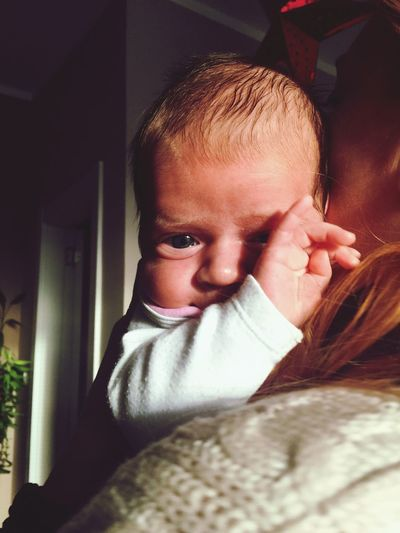 Real People Indoors  One Person Innocence Childhood Home Interior Front View Babyhood Baby Close-up Babygirl