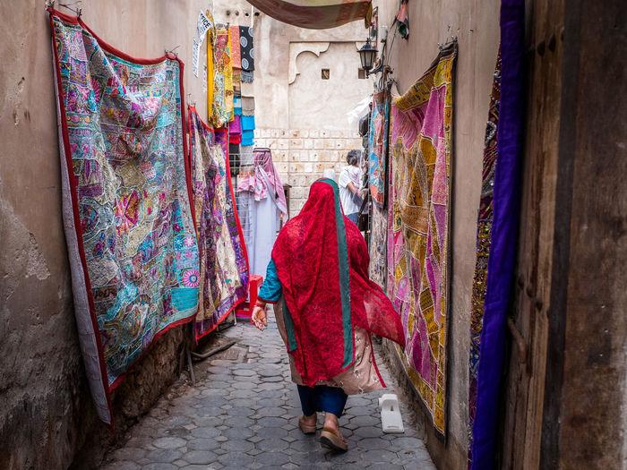 Woman Walking In Dubai