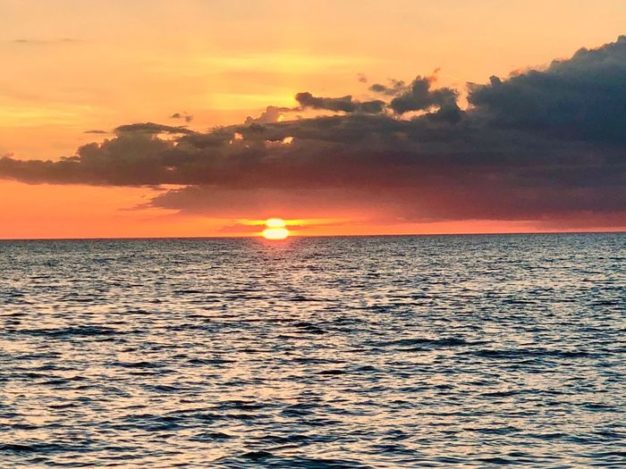 Sunset on the Gulf of Mexico Naples Florida Visit Naples Travel Naplesflorida Sunset Water Sky Beauty In Nature Sea Scenics - Nature Orange Color Tranquility Tranquil Scene Horizon Horizon Over Water Sun Waterfront No People Romantic Sky Outdoors Rippled Cloud - Sky Nature Idyllic