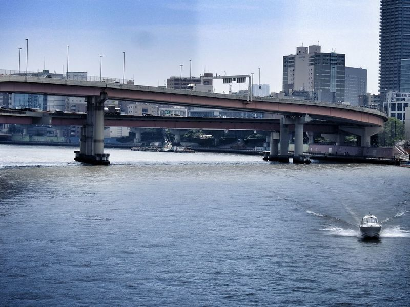 Sumidariver Boat River Tokyo Summer Walking Around Sumida-gawa or Sumidariver is the river which represents Tokyo.