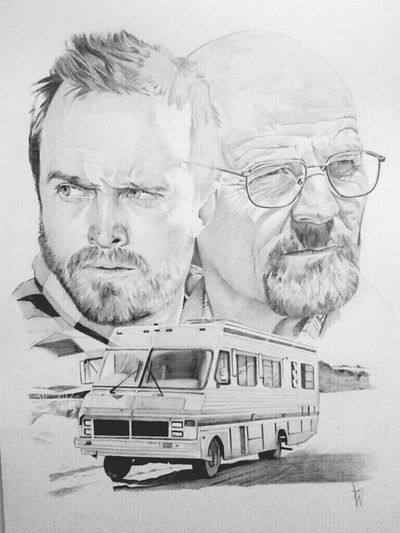 Check This Out Enjoying Life Art Portrait Breaking bad portrait