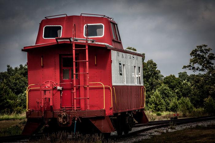 Wabash Caboose Train Railcar Railroad Railroad Tracks