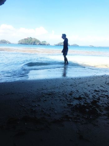 Summer, i'll be there in a heartbeat. Sea Beach One Person Full Length Nature Water Rear View Men Outdoors Sky Day Leisure Activity Beauty In Nature Scenics Horizon Over Water Sand