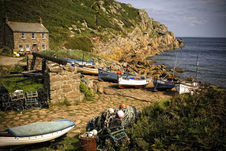 Coastal Views Coastal Walks Cornwall Uk Cove Fishing Boats HDR Landscape Relaxing Summertime Taking Pictures Tranquility Walking