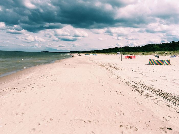 Beach Land Sky Cloud - Sky Sand Sea Water Nature Summer Holiday Vacations Day Beauty In Nature Outdoors