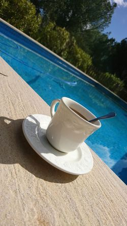 Coffee Affternoon Moments Moment Pool #Blue #water #Relaxing Relax
