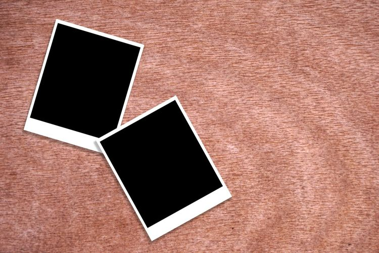Backgrounds Black Color Blank Brown Card Close-up Copy Space Frame Full Frame Group Of Objects Indoors  Instant Camera No People Nostalgia Photography Themes Picture Frame Table Technology Textured  White Color Wood - Material
