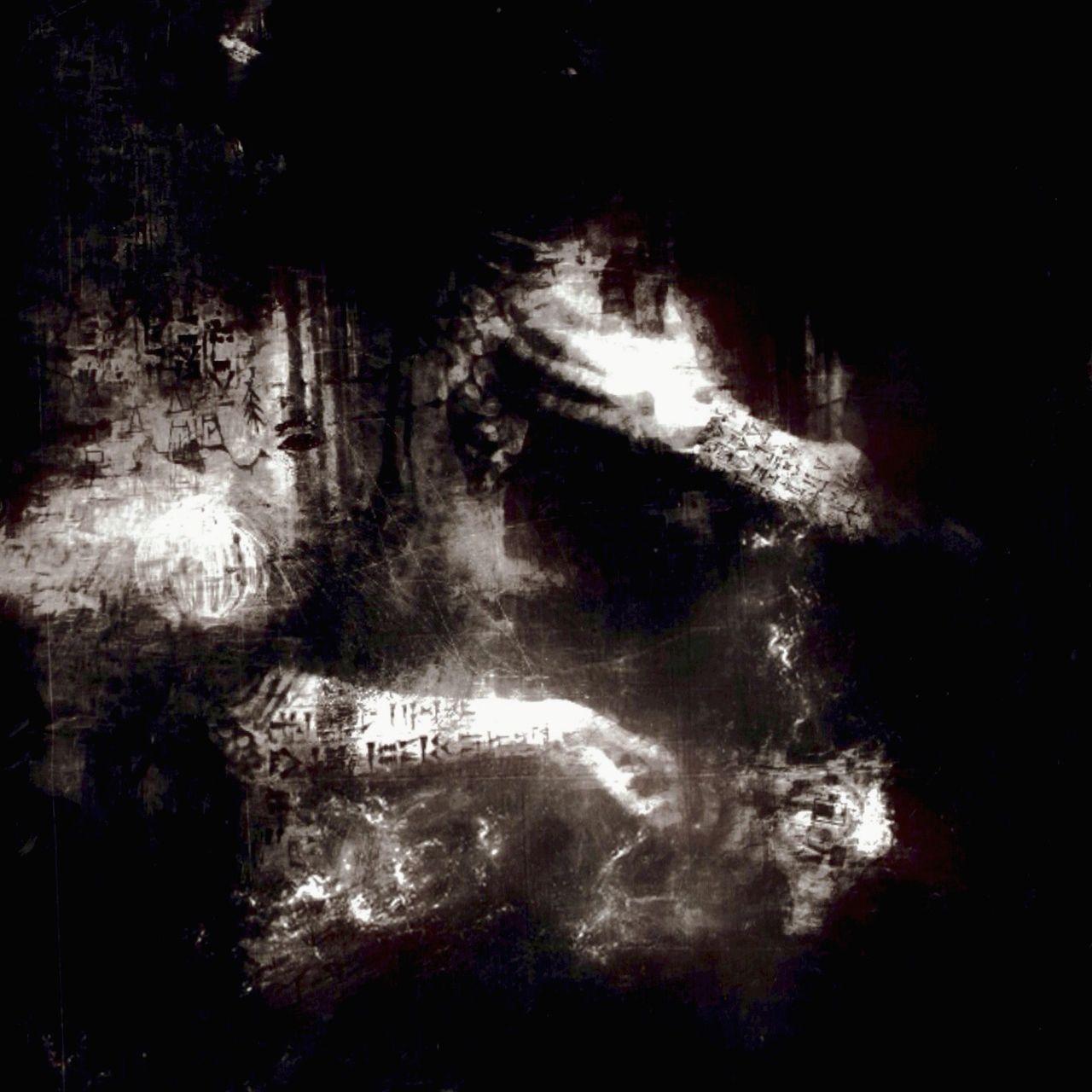 abstract, black background, studio shot, no people, talcum powder
