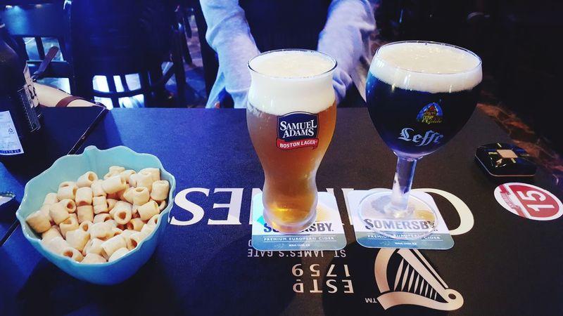 Food And Drink Indoors  Drink Table Glass Beer Samuel Adams Leffebrune Korea
