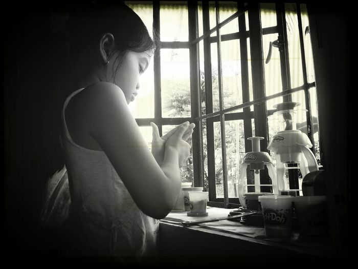 Shane busy with her play-doh.. First Eyeem Photo