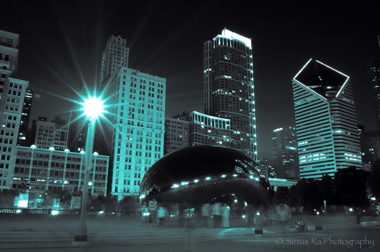 Chicago Tron NightSnaps Night Lights Long Exposure Chicago Be who you are, for there is no better person to be for the you that is beyond you which is the greater you.