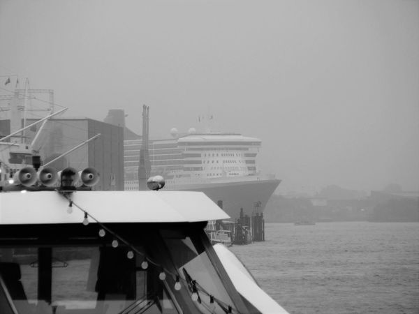 Boat Fog Harbor Mood Mystical Atmosphere No People Outdoors Queen Mary Sky Tranquility