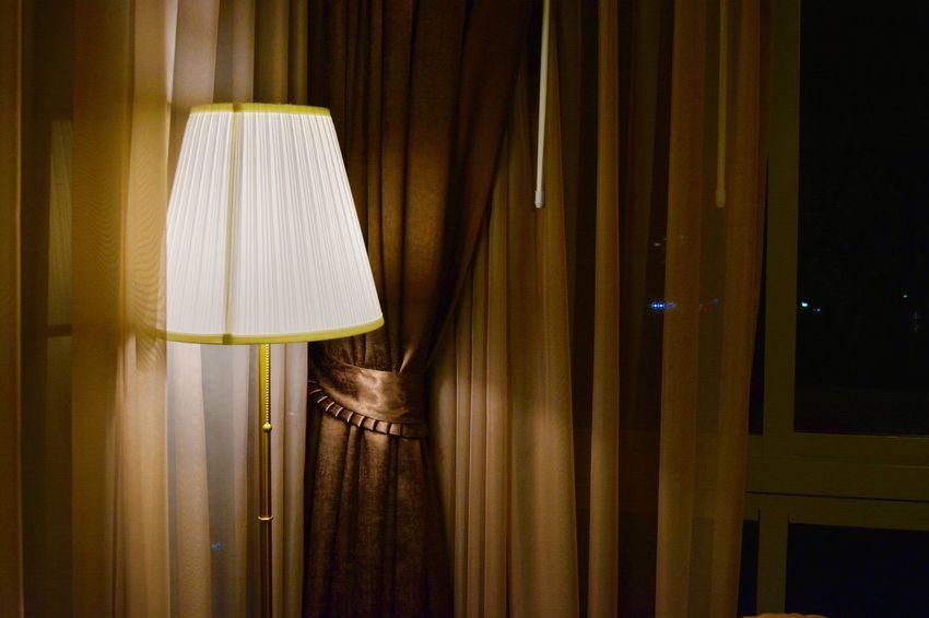 Curtain Drapes  Electric Lamp Hanging Home Interior Illuminated Indoors  Lamp Shade  Satin