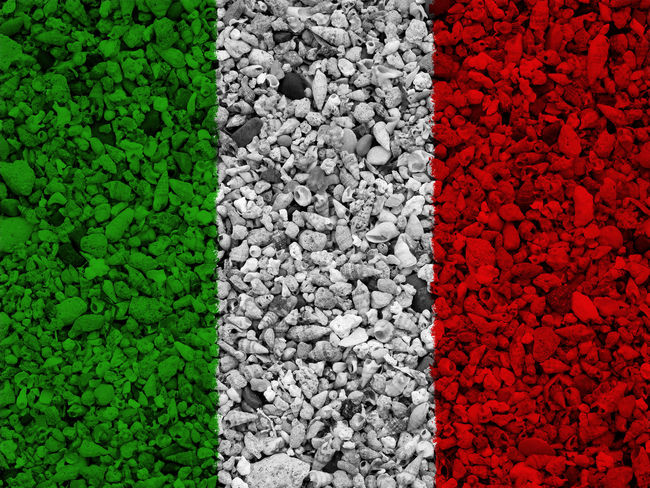 Italian flag Abundance Backgrounds Close-up Day Directly Above Flower Freshness Full Frame Green Color High Angle View Italy Italy Flag Large Group Of Objects Nation Nature No People Outdoors Pebble Plant Red Rome Rome Italy State