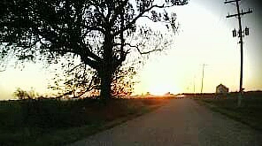 Country Road Ol' Dirt Road Sunset Southeast Missouri Story What Once Was