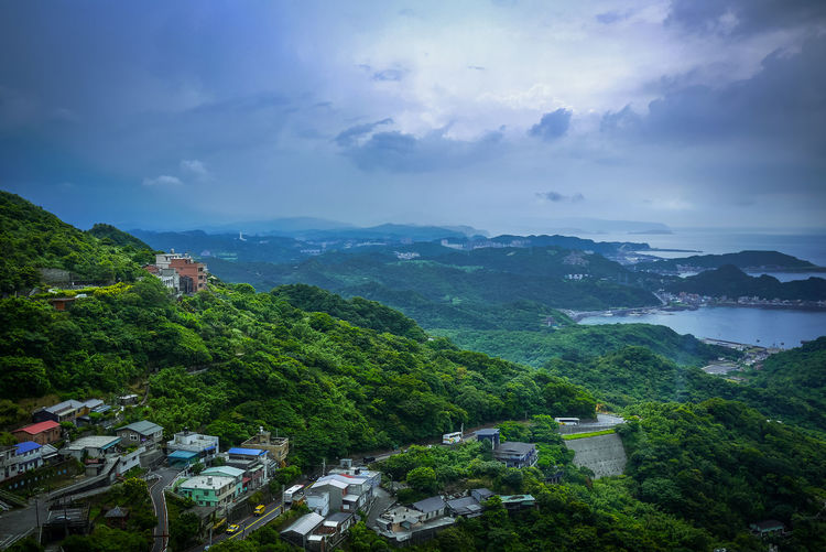 Jiufen Taiwan Taiwan Travel Architecture Beauty In Nature Cloud - Sky Day High Angle View Jiufen Mountain Nature No People Outdoors Scenics Sky Tree Water 九份