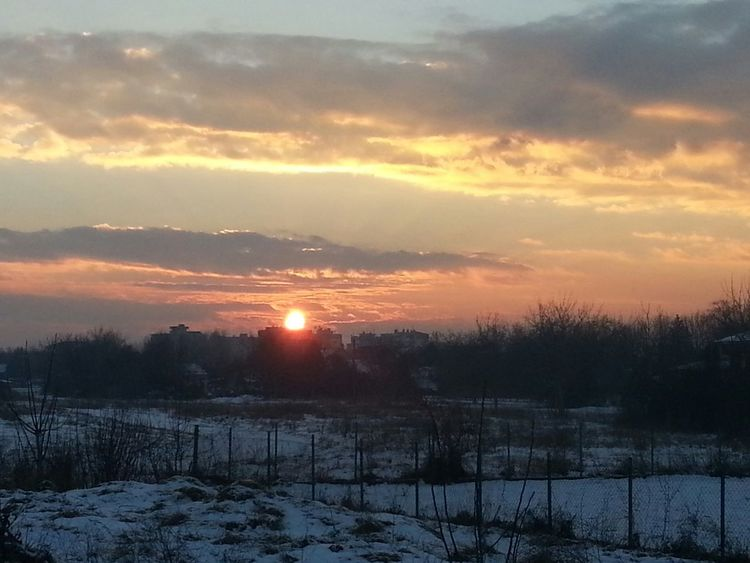 Sunset Sun☀ Clouds☁ Winter❄️⛄️ Snow❄ Nature EyeEm Nature Lover