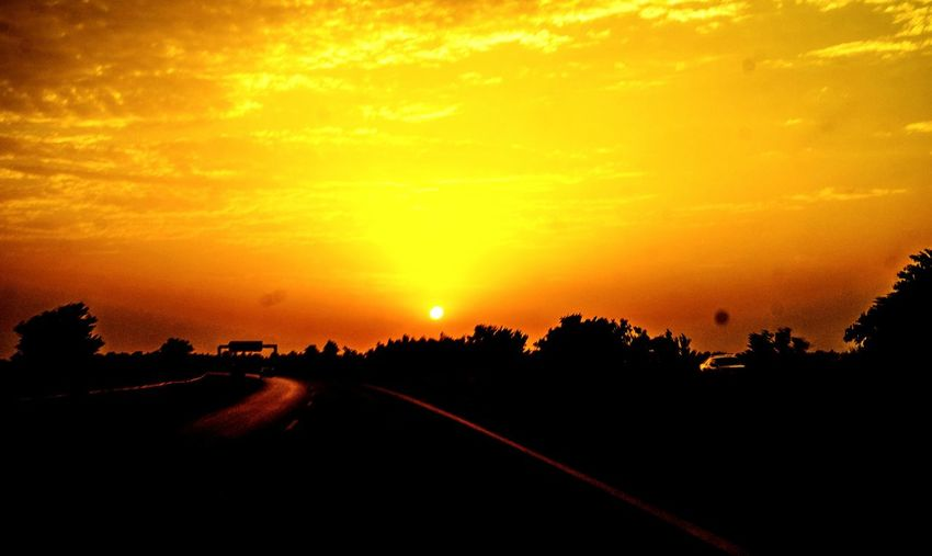 Perfact Sunset Captured From A Moving Vehicle With 120km/h Islamabad Motorway