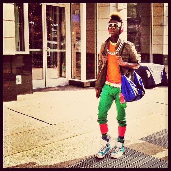 street fashion at Union Square, NYC Street Fashion