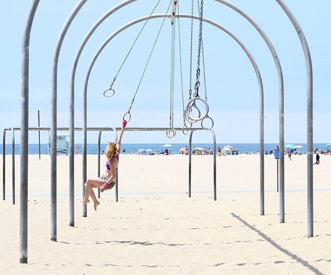 I want to go back to summer break and not have to worry about midterms and projects Santamonica Musclebeach