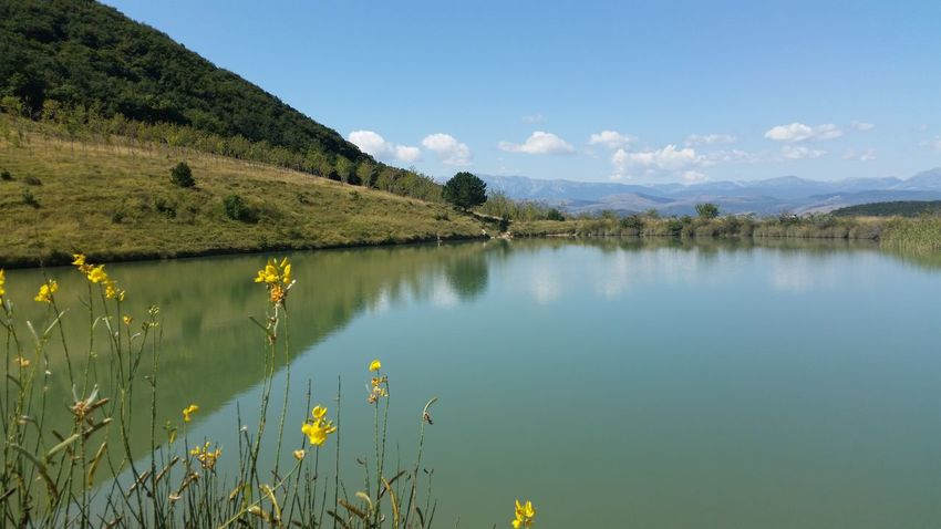 Abruzzo Beauty In Nature Blue Calm Countryside Day Grass Growth Idyllic Lake Landscape Mountain Mountain Range Nature No People Non-urban Scene Outdoors Parconazionaledabruzzo Plant Reflection Scenics Sky Standing Water Tranquil Scene Water