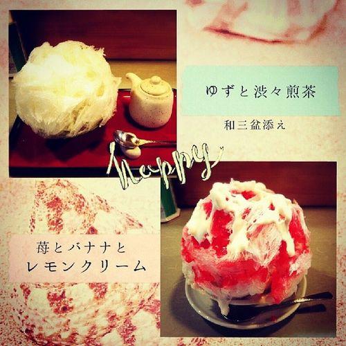 念願の慈げん さんに行ってきた(♡˙³˙) 美味しかったよー❤???? 次はかぼちゃとかエスプレッソ食べる! かき氷 熊谷 Yummy summer food