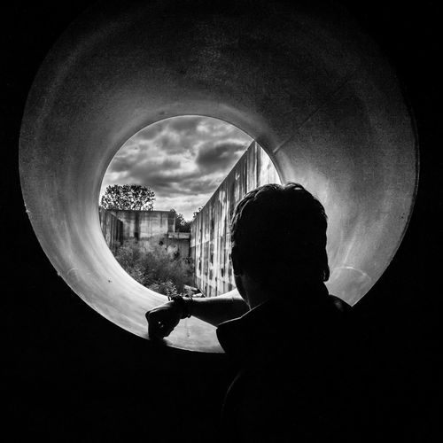 Blackandwhite Black And White Photoyourworld Looking Out A Portal