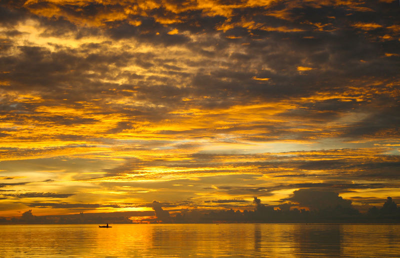 Beauty In Nature Cloud - Sky Day Dramatic Sky Nature No People Outdoors Reflection Scenics Sea Silhouette Sky Sunset Water Waterfront