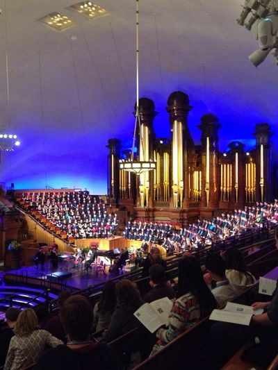 What Did You Do Last Saterday... Sat in awe and wonder, beaming as I watched and listened to my son perform with the ACDA National Honor Choir in the Salt Lake Tabernacle. Life = Music = Life Musicmakers My Joy