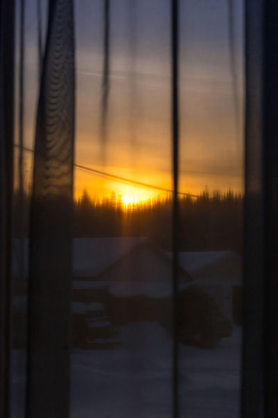 Through the curtains... Looking Out The Window The Week On EyeEm Watching The Sunset Winter Wintertime Beauty In Nature Building Exterior Close-up Clouds And Sky Day Golden Hour Nature No People Outdoors Scenics Sheer Fabric Sky Sundown Sunset Sunset Through The Window Sunsets Through The Window Tree Window Covering Winter Sunset Colour Your Horizn