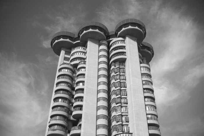 Architecture The Week On EyeEm Blackandwhite Brutalism Concrete Highrise Residential Building Torres Blancas The Graphic City