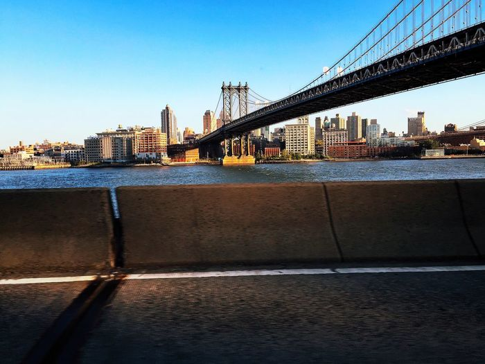 """Only I can take a good pic while driving"" 🙌🏻🔥🔥 👀👀 on the road !!!! 🔥🔥 EeyemBestEdits Eye4photography  IPhoneography Landscape_Collection Bridge FDR Drive Bridgeporn Cityofdreams  Hello World View"