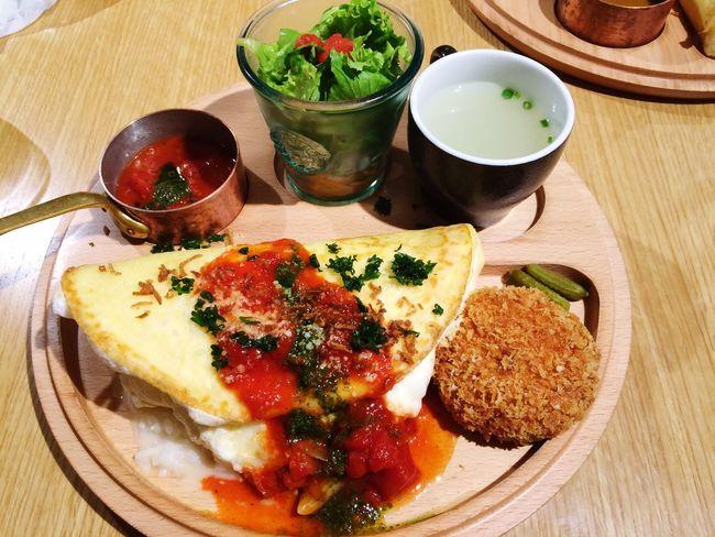 Lunch Japanese  Shinjuku Food Friend Girl Omurice Yummy