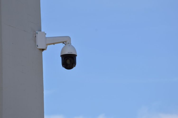 Cctv Camera Surveillance Sky Blue Camera Nikon D3200 Nikonphotography Watching Big Brother
