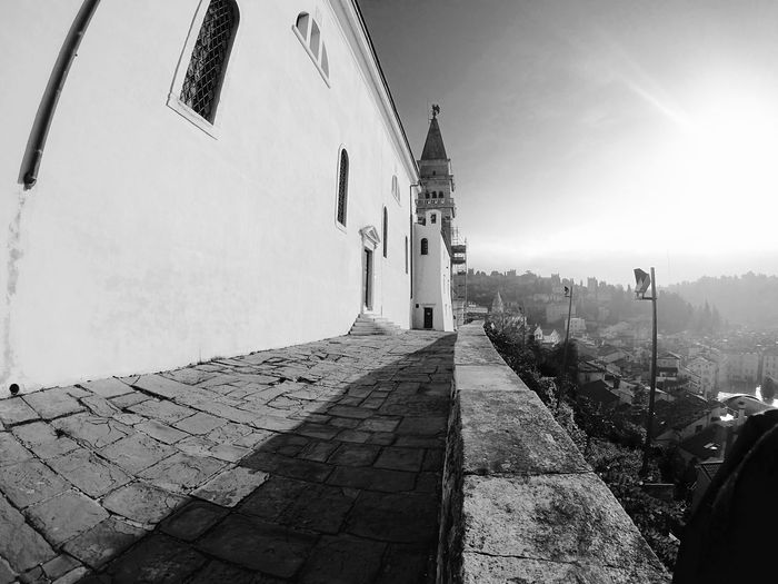 Slovenia Piran Stgeorgechapel Blackandwhite Photography Blackandwhite Ilovejesus Goprohero4