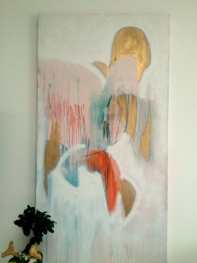 Multi Colored Twombly Abstract Painting Art