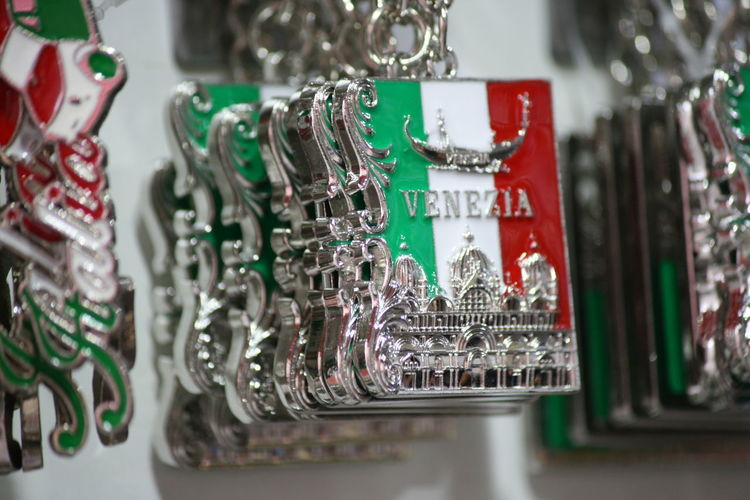 Gondola Italia Tourist Venice, Italy Italy Keyrings Retail Display Still Life Tourism Tourist Shop Venice