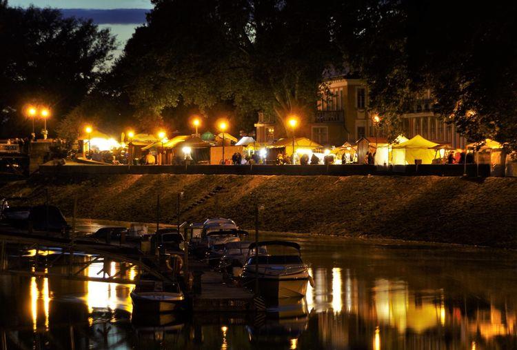 ship Ship Mirror City Water Tree Illuminated Reflection Sky HUAWEI Photo Award: After Dark My Best Travel Photo