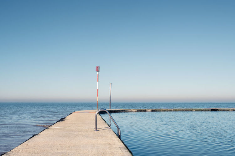 The Boating Pool, Margate, Kent, UK Water Sky Sea Beauty In Nature Scenics - Nature Tranquility Clear Sky Nature Tranquil Scene Day No People Blue Copy Space Horizon Horizon Over Water Outdoors Idyllic Boating Pool Pool Swimming Pool