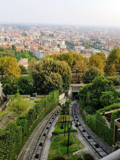 Railway in a garden Nofilter Old City Streets Ancient Architecture City Cityscape City Life Garden Views Cityscape High Angle View Landscape City Location Residential District