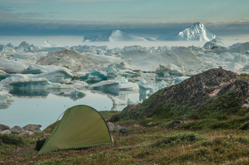Adventure Beauty In Nature Camping Greenland Iceberg Landscape Nature Outdoors Scenics Tent Water Wilderness