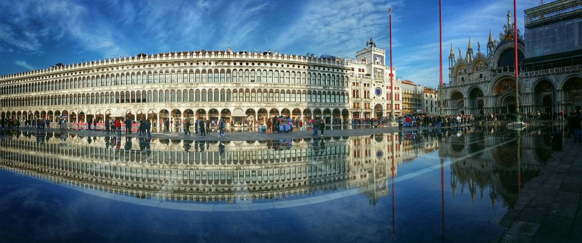 Early Morning Walks Venice, Italy Showcase: December Panoramic Views St. Mark's Square Rising Tide Water Reflections Leading Lines Endless Arcades My Best Photo 2015