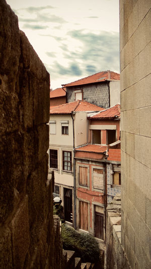 City Cityscape Oporto, Portugal Portugal Apartment Architecture Building Building Exterior Built Structure City Cloud - Sky Color Day House Low Angle View Nature No People Old Outdoors Plant Residential District Sky Tree Wall Wall - Building Feature Window