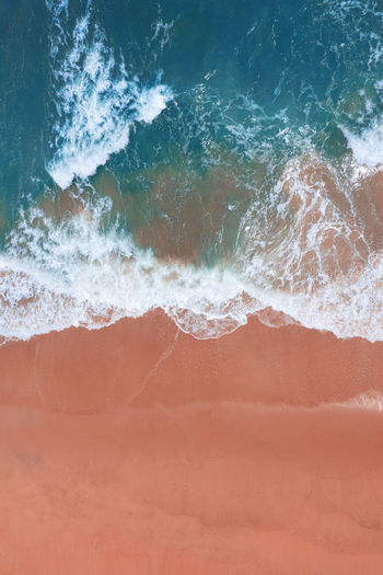 Sea waves rushing towards shore
