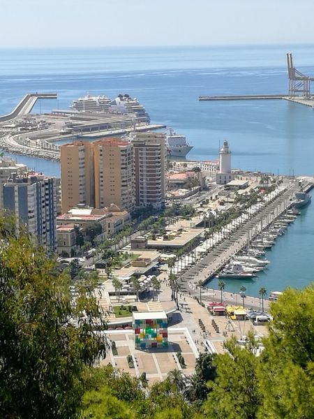 Horizon Over Water Landscape Cityscape Travel Destination Built Structure Building Exterior Port Port Of Malaga Day No People Architecture Scenics Beach Sea Water Pompidou Museum