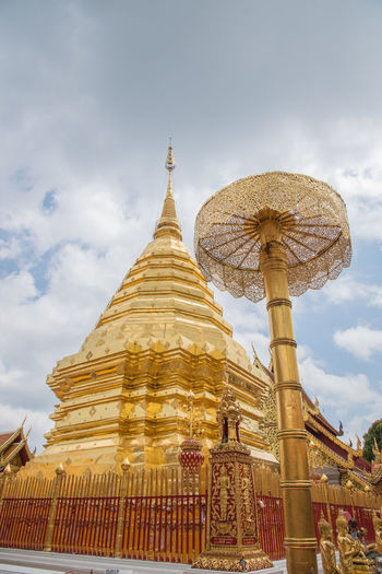 Architecture Buddha Buddha Temple Changmai Doi Suthep Gloden Thailand Travel Wat Phrathat Doi Suthep Art Budda Buddha Statue Buddhism Buddhist Temple Building Exterior Doi Suthep Temple Religion Temple