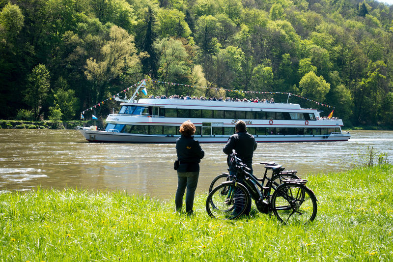 Panoramaweg between Kehlheim and Weltenburg Adult Ausflug  Beauty In Nature Bicycle Day Donau Donauschifffahrt Grass Land Vehicle Men Mode Of Transport Nature Nautical Vessel Outdoors Panoramaweg People Radfahren Real People Scenics Sky Togetherness Transportation Two People Water Weltenburg