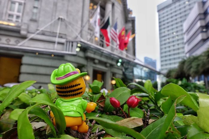 Garfield goes to Singapore... Streetphotography Colors Streetphotography Action Figures Street Photography