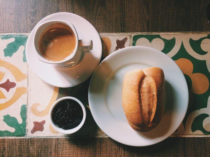 Breakfast Coffee Bread Coffee Time Breakfast ♥ Pattern Wood Food Table