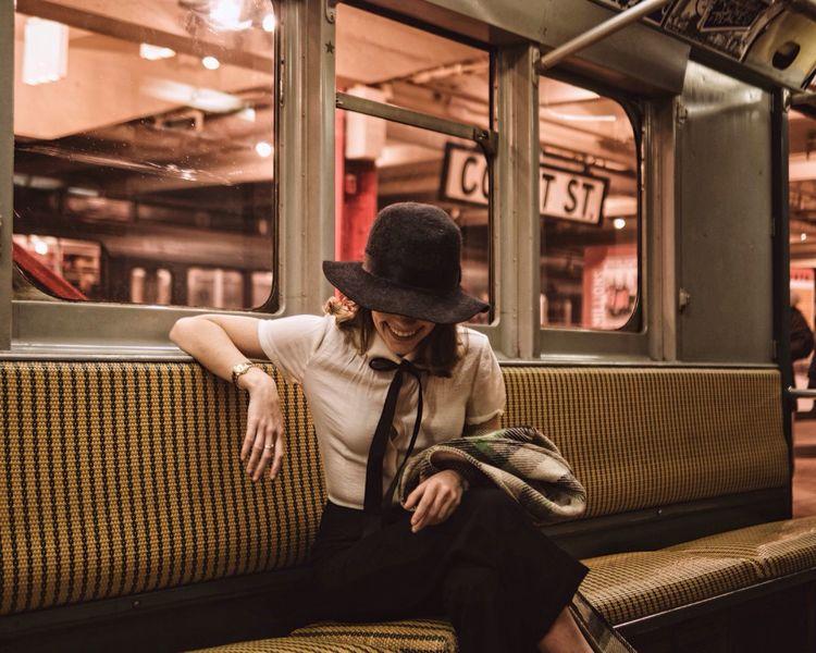 Subway Train Public Transportation Sitting Streetphotography Women Who Inspire You EyeEm Best Shots Vintage Cinematic Uniqueness The Week On EyeEm Editor's Picks